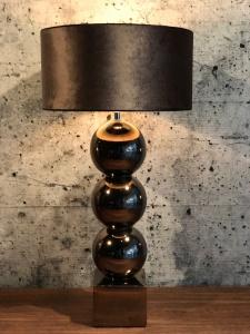 CHIQUE Concept - Bollenlamp glamour tafellamp 3 bollen brons