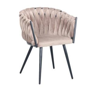 CHIQUE Concept - Wave chair creme - gevlochten stoel