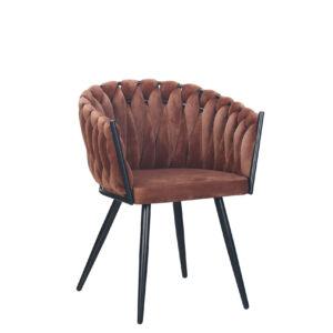 CHIQUE Concept - Wave Chair Copper - Gevlochten Stoel
