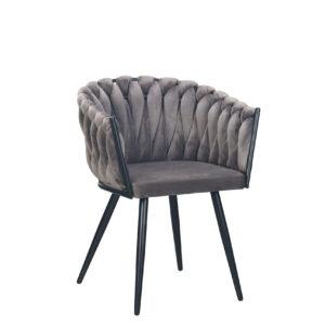 CHIQUE Concept - Wave Chair Dark Grey - Gevlochten Stoel