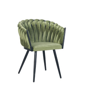 CHIQUE Concept - Wave Chair Olive Green - Gevlochten Stoel